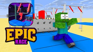 Monster School : EPIC RACE 3D CHALLENGE - Minecraft Animation