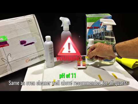 How to Clean Quartz Stone Benchtops  ALL NATURAL Cleaner - Polish, Shine, Streak Free