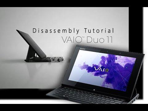 Sony Vaio Duo 11 Disassembly Tutorial / Demolición De Una Computadora Portátil