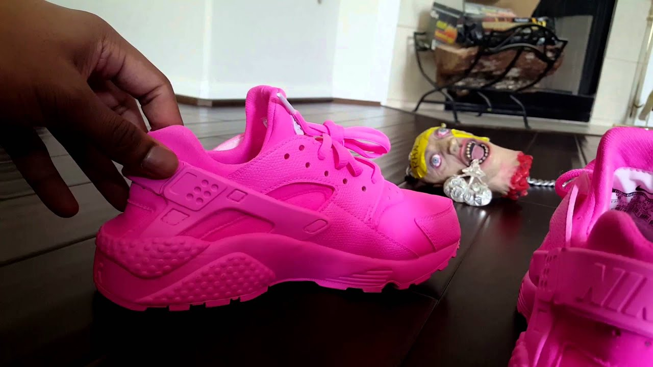 0a0f8931fa4 Pink Custom Nike huarache - YouTube