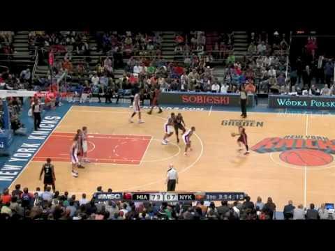 Miami Heat vs New York Knicks (111 - 98) April 11, 2010