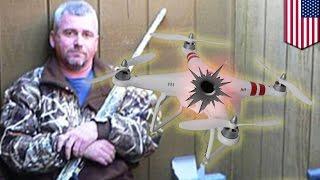 Ojciec aresztowany za zestrzelenie drona znad jego ogródka