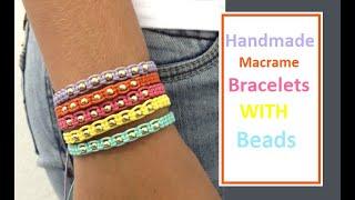 How To Make Macrame Bracelets With Beads | Handmade Jewellery Ideas | Thread Bracelet |Creation&you