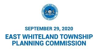 9 29 20 East Whiteland Township Planning Commission