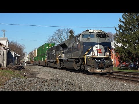 Trains on the Norfolk Southern Harrisburg Line Spring 2017
