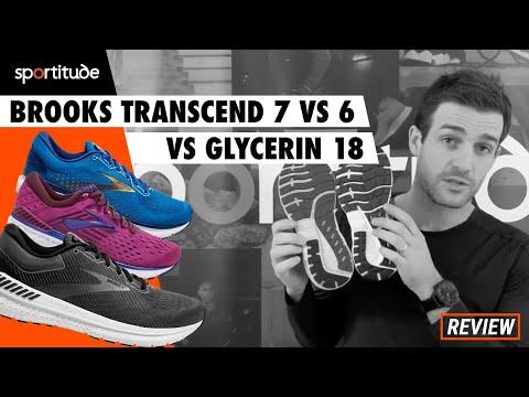 Brooks Transcend 7 vs 6 vs Glycerin 18