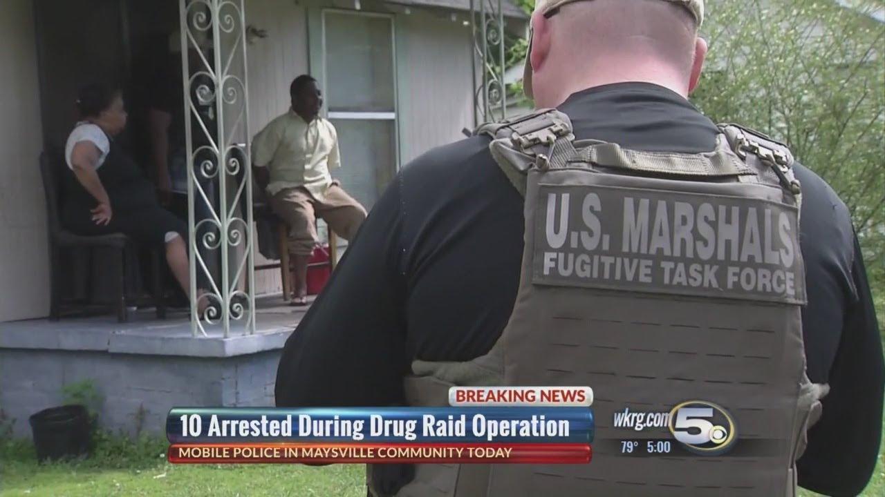 Mobile Police arrest 10 in Maysville drug operation