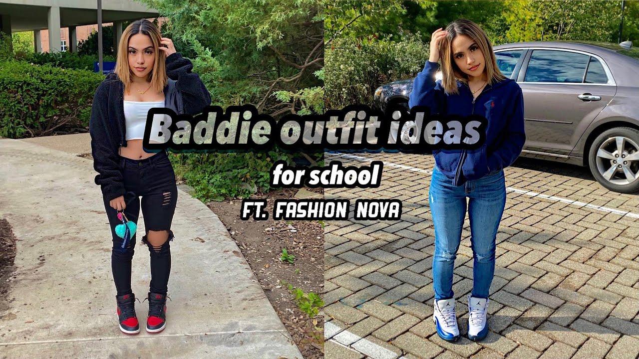 Fall baddie on a budget school outfit ideas  || fashion nova try on haul ?