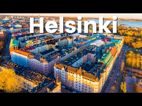 Helsinki City Tour Ultra HD - Helsinki Finland - Helsinki City Drone View