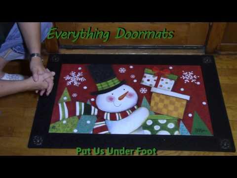 Happy Snowman MatMate Insert Doormat - 18 x 30