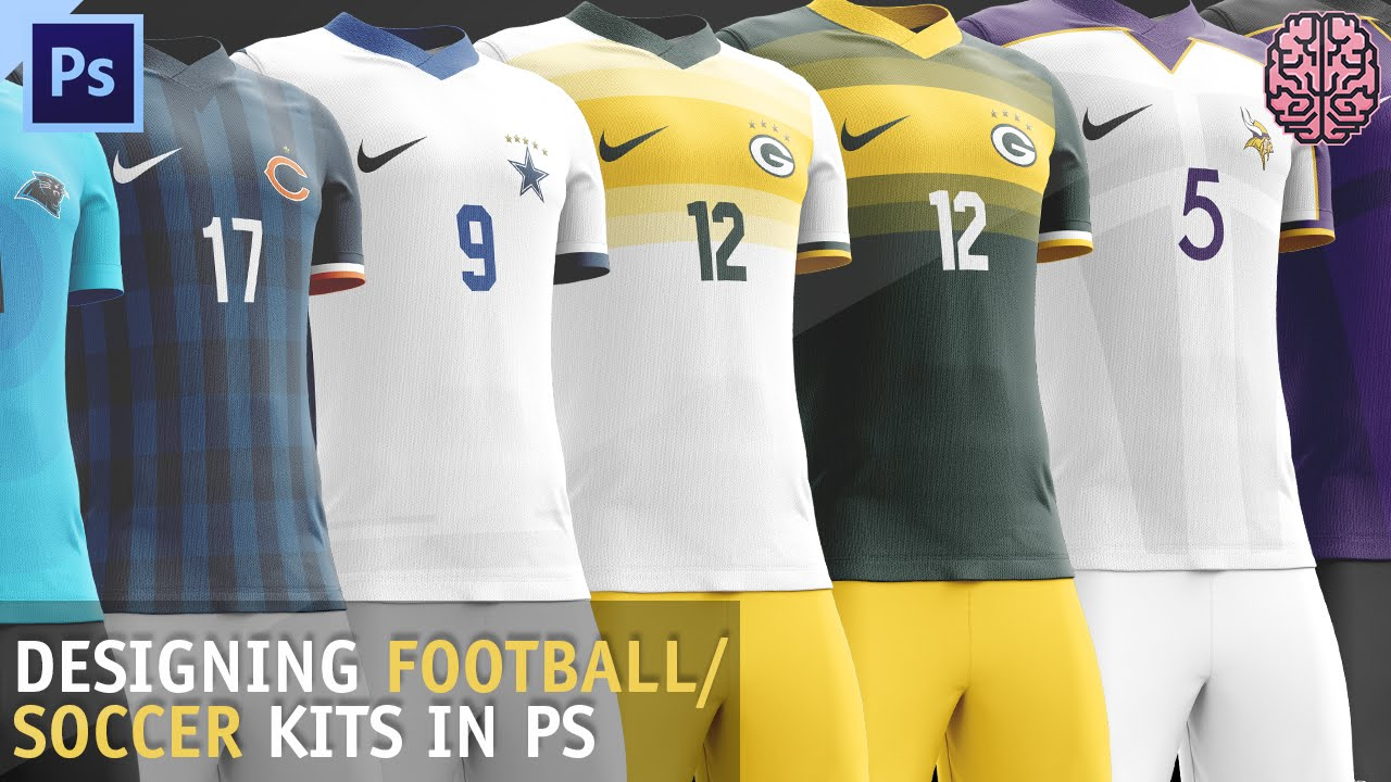 Tutorial Football Soccer Kit Design Photoshop Cc By Qehzy Youtube