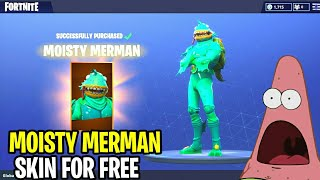 "*NEW* Fortnite: HOW TO GET ""MOISTY MERMAN"" SKIN FOR FREE! 