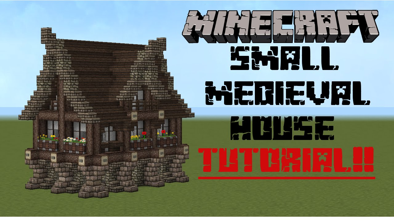 Minecraft small medieval house tutorial youtube for Classic house tutorial