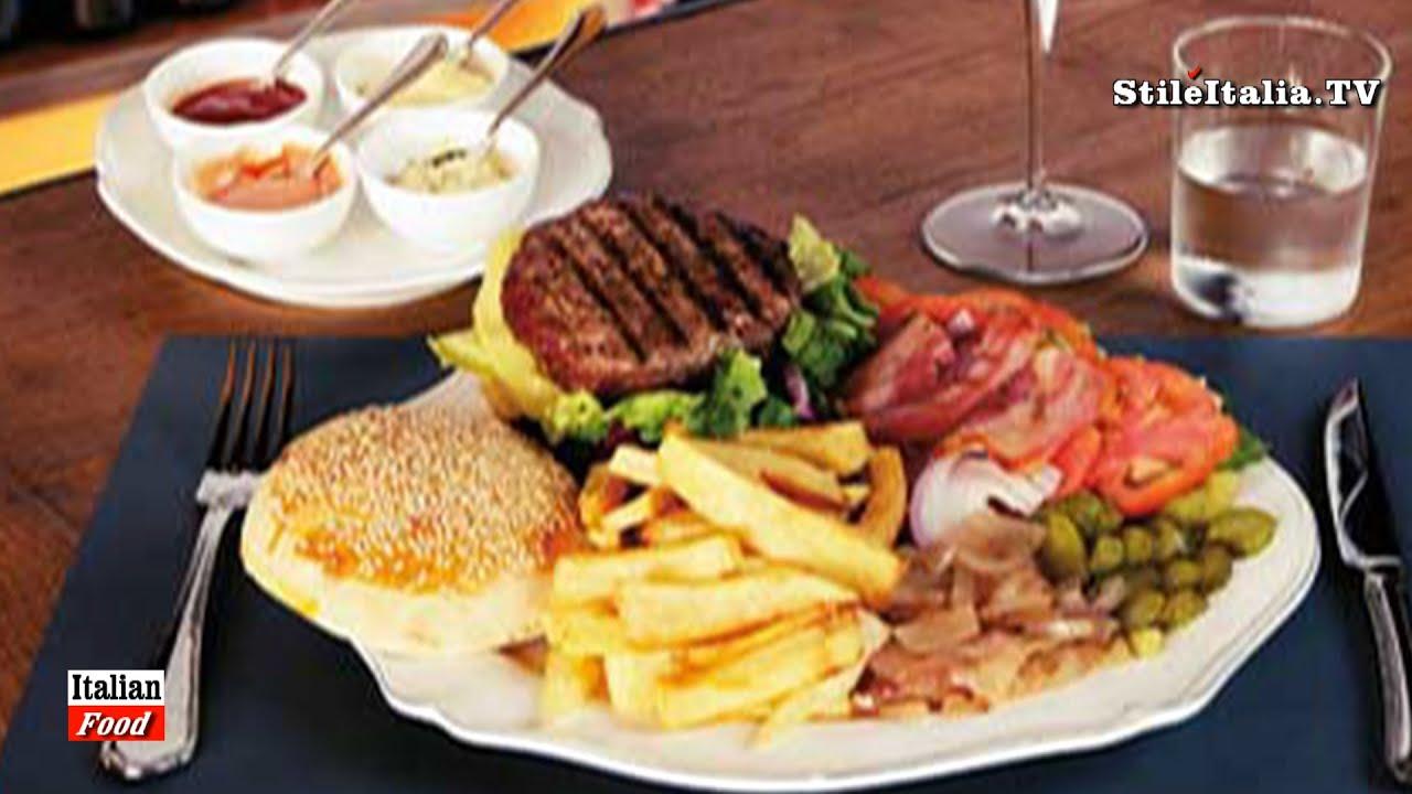 Italian Food Chianina Hamburger By Lungarno 23 Florence Leisury Tv Stile Italia Tv