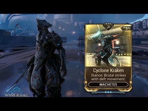 Warframe   Machete Stance Mod: Cyclone Kraken