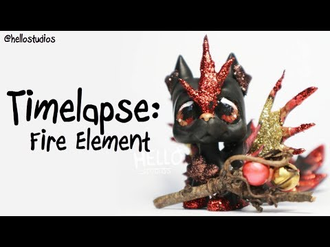 LPS custom Timelapse - Fire Element - Handpainted by HelloStudios