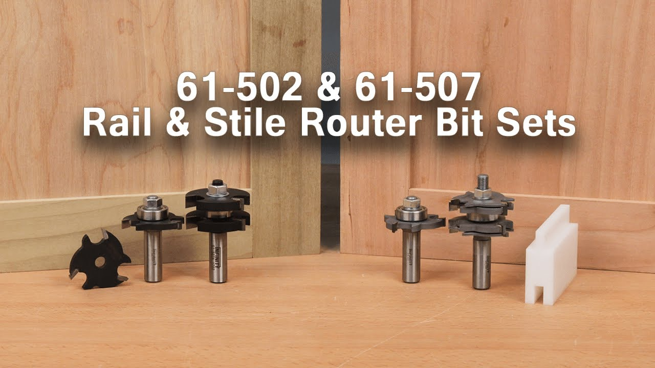 Make Mission Style And Shaker Style Cabinet Doors With Tongue And Groove Router Bit Sets