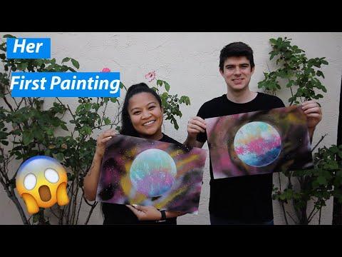 Teaching My Friend How to Create A Basic Planet Painting by Kyle'sSpray Paint Art thumbnail