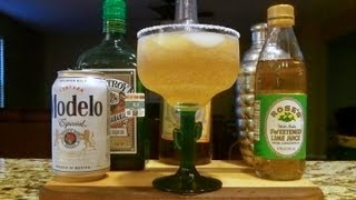 How To Make A Beergarita / Cerveza Rita / Beer Cocktail /mixed Drink (recipe Included)  Djs Brewtube