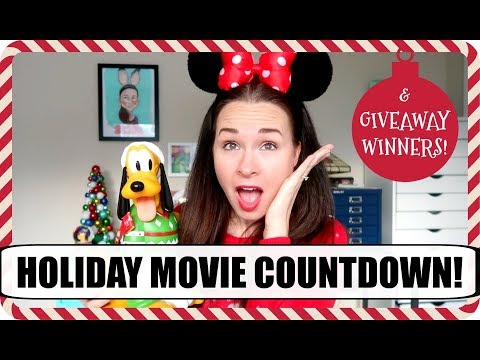 Top Holiday Movies Countdown + Giveaway Winners Announced!   Vlogmas 2017, Day 10