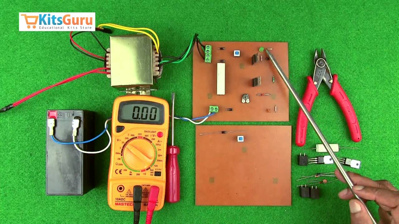 Battery Charger By Kitsgurucom Lgkt114 Youtube Three Light Control Switch Circuit Free Electronic Circuits 8085