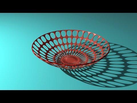 Modeling A Plastic Basket using Wireframe Modifier in Blender 2.79