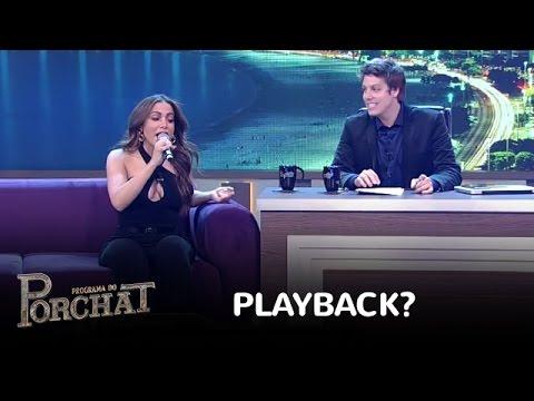 Anitta prepara o gogó e mostra que não é feita de playback