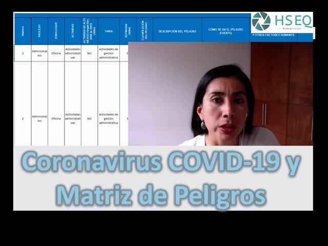 La matriz del peligros y el coronavirus COVID-19
