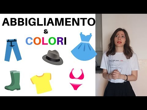 new styles 4c9bc 8bcbb Colours and Clothes in ITALIAN - Learn Italian Vocabulary with our Funny  and Easy LESSON! 😊