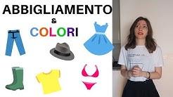 I colori e l'abbigliamento italiano - Italian colors and clothes - colores y ropa en italiano