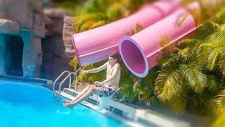 Adventure Island Tampa - Hydra Tubes | Pelican Dive Drop Slides Onride POV