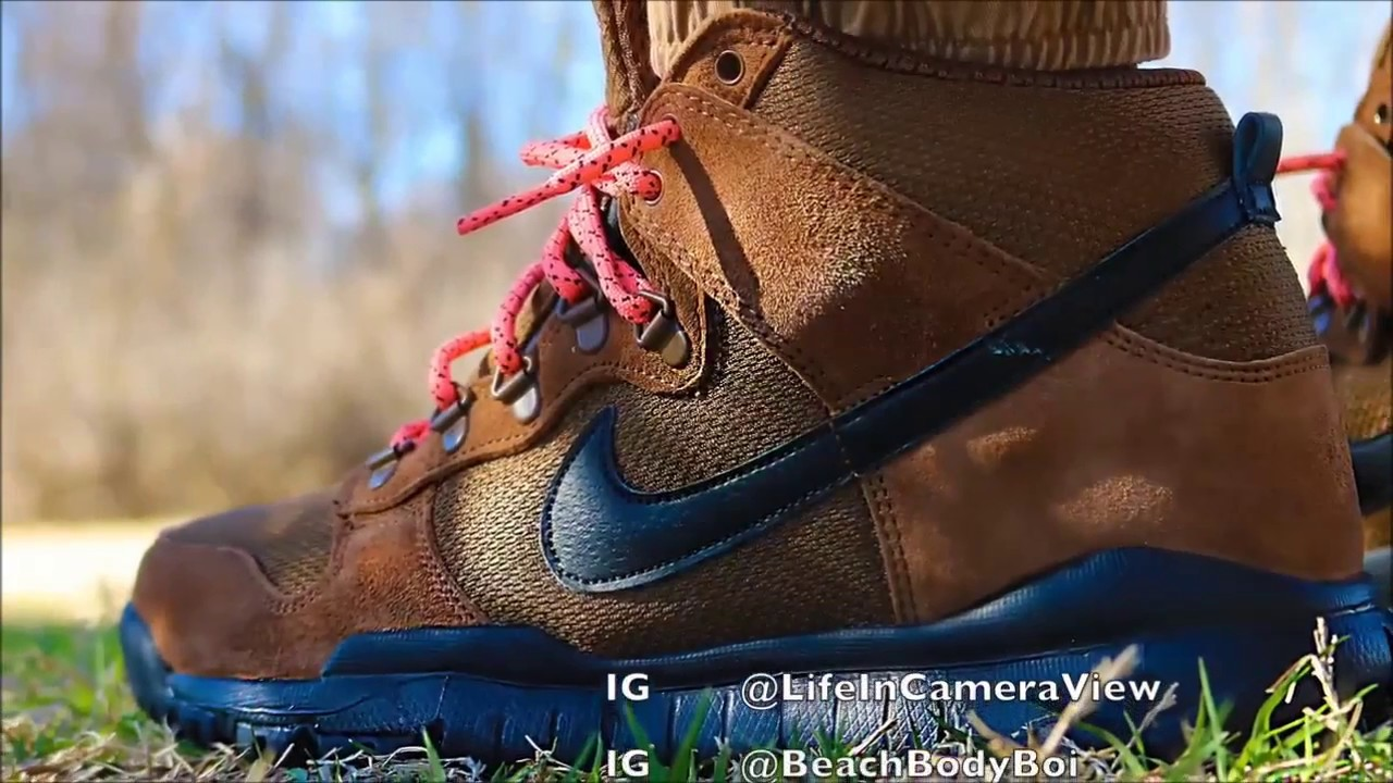 Nike Dunk Boot on Foot