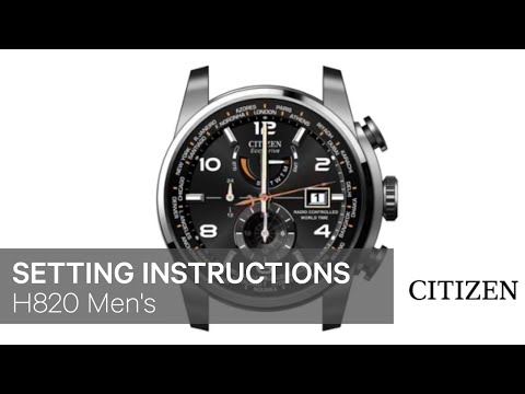official citizen h820 men s setting instruction youtube rh youtube com Citizen E820 Leather citizen eco drive watch manual e820