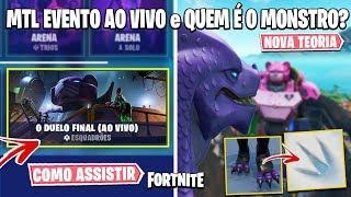FORTNITE - APARÊNCIA DO MONSTRO, VINCULAR CONTAS e EVENTO AO VIVO!