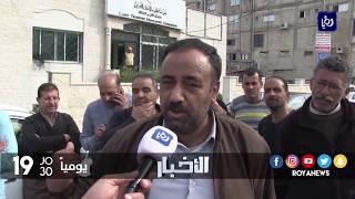 معتصمون يطالبون برفع أجرة سرفيس المجمع الشمالي - حنينا - (7-2-2018)
