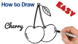 How to Draw Cherries Easy Drawings