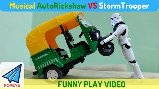 Funny Musical Bajaj Autorickshaw vs Star Wars Stormtrooper | RC With Popeye