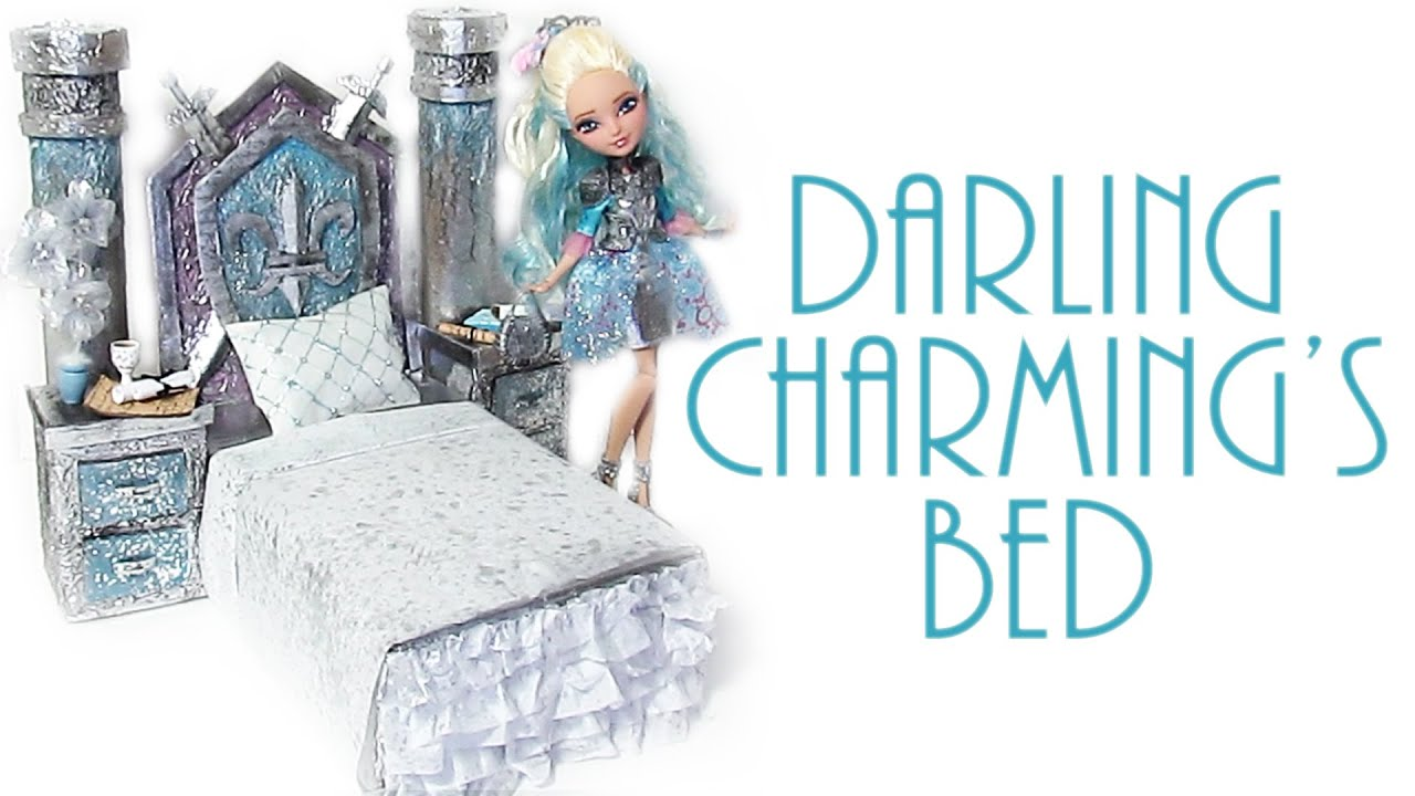 How to make darling charming 39 s bed ever after high youtube for How to make a high bed