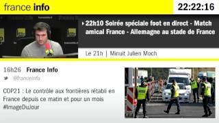 Attentats du 13 Novembre 2015 à Paris : l'intégralité de France Info entre 22h10 et minuit.
