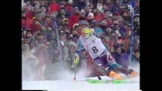 Thomas Stangassinger gewinnt Gold 1994, Olympic Games Slalom Lillehammer