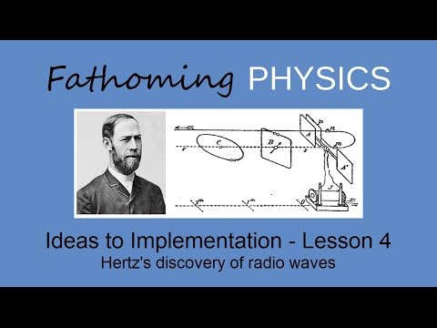 Lesson 4 - Ideas to Implementation - Hertz's discovery of radio waves