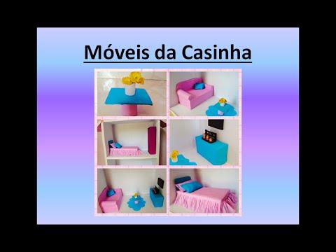 Mveis da Casinha de Boneca  Faa voc mesmo  Casinha da Barbie  YouTube