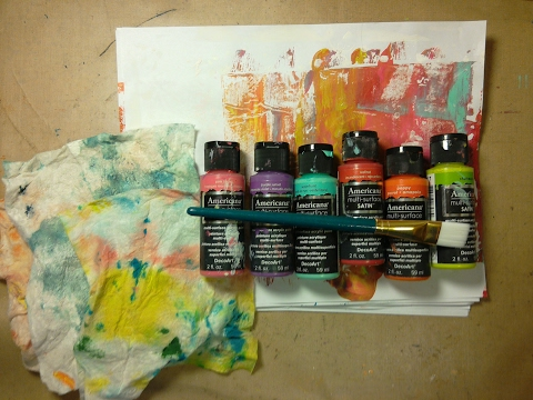 How to Junk Journal:  Step 2 - Adding color