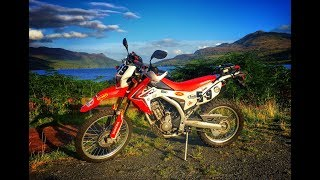 Exploring the Trossachs by Honda CRF 250L - Episode 2: Part 1, Loch Katrine and the Dukes Pass