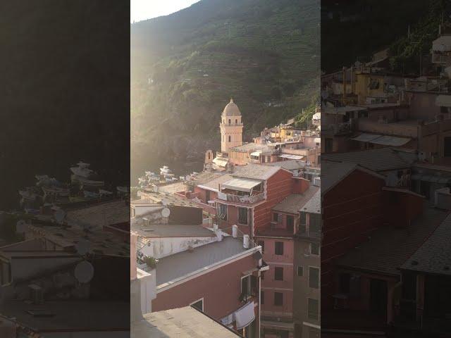 ITALY - Sunset on Vernazza, 5 Terre