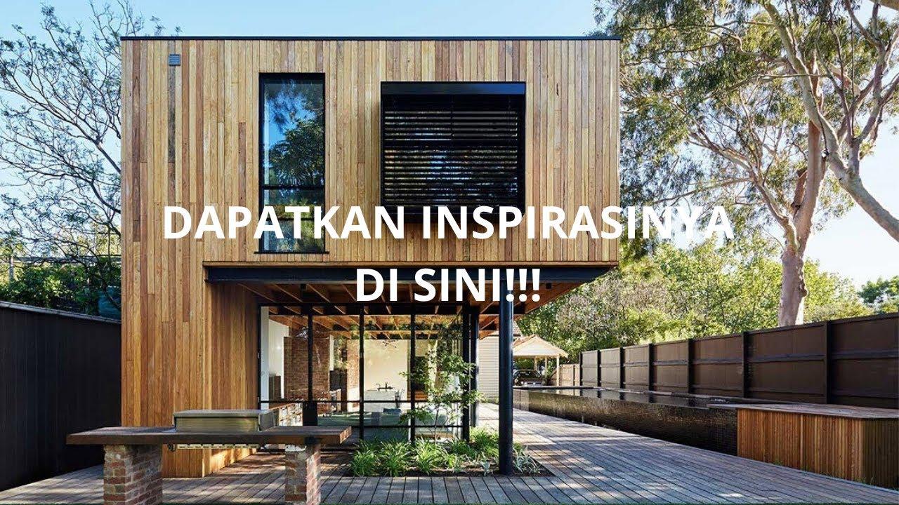 Contoh Desain Unik Artistik Rumah Kayu Minimalis Modern ...