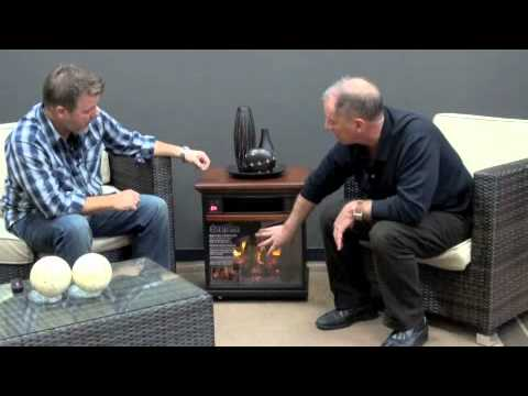 Duraflame 20IF100GRA O107 Oak Rolling Mantel Infrared Electric Fireplace.  PatioShoppers