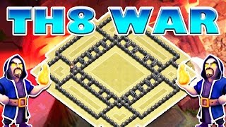 BEST TH8 WAR BASE DOUBLE LAYER 4 CORNER | Clash of Clans