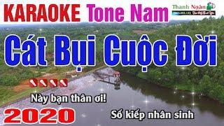 Cát Bụi Cuộc Đời Karaoke 2020 Tone Nam - Nhạc Sống Thanh Ngân