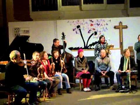 Wuppertaler Improvisations Orchester (WIO) feat. Steve Beresford 20.1.2012 Sophienkirche Wuppertal 5